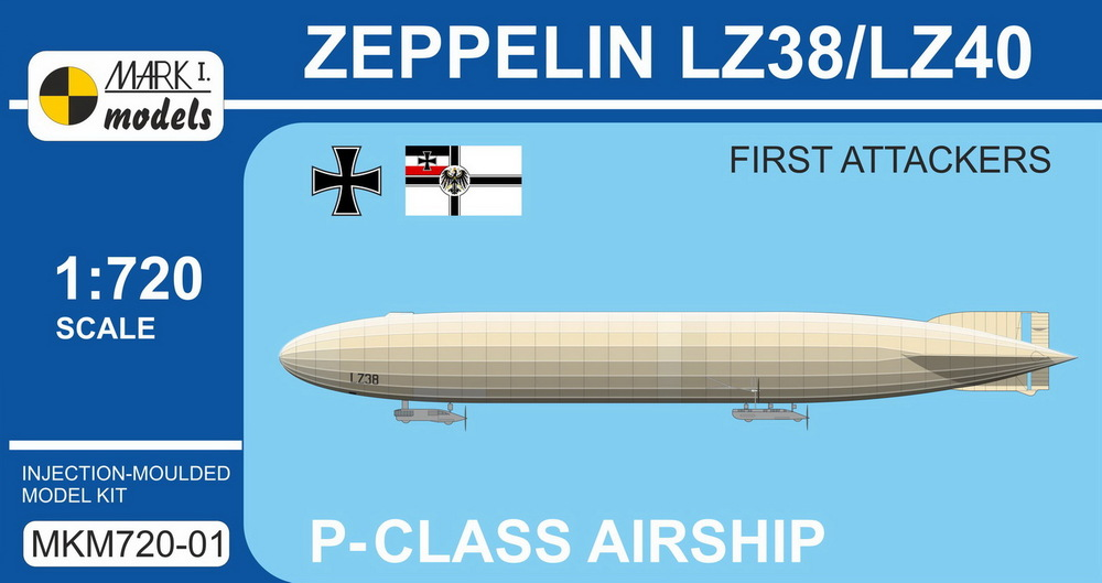 Zeppelin P-class LZ38/LZ40 'First attackers' - Click Image to Close