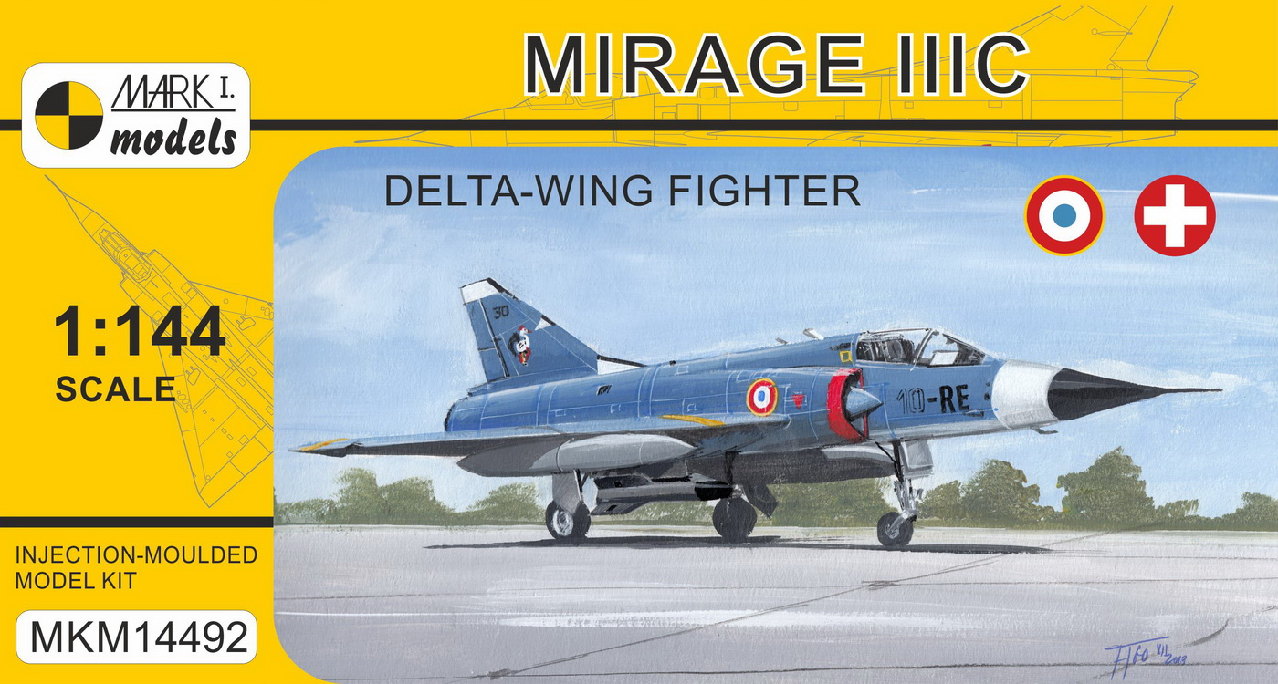 Mirage IIIC 'Delta-wing Fighter' (French & Swiss AF) - Click Image to Close