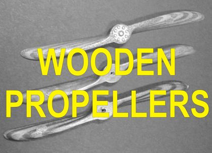 Hand made wooden propeller