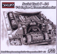 T-34 V-2 engine+transmission set