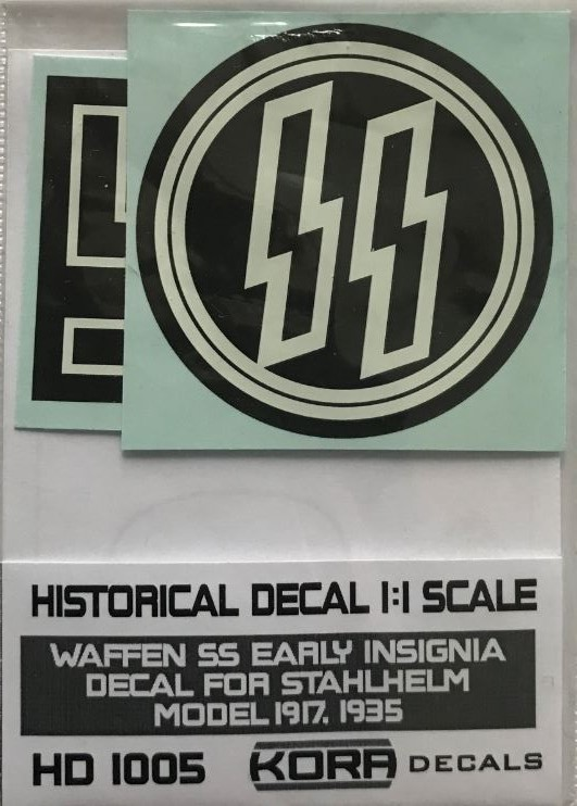 Helmet decal Waffen SS early Insignia (1917,1935)