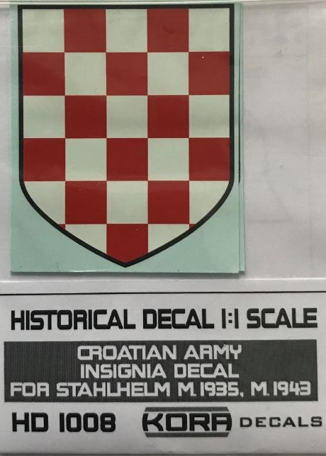 Helmet decal Croatian Army Insignia (1935, 1943)