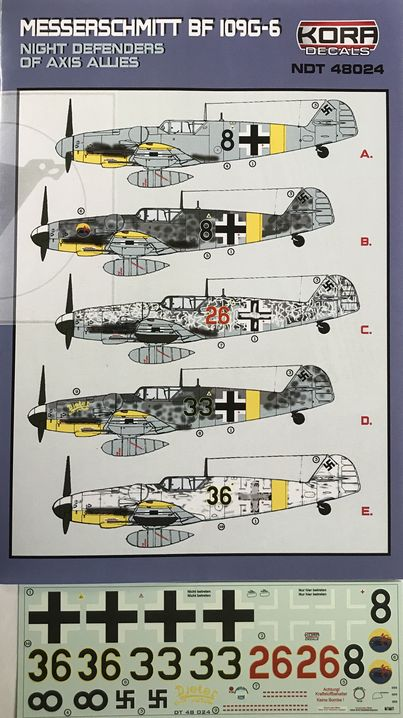 Messerschmitt Bf 109G-6 Night Deffenders of Axis Allies
