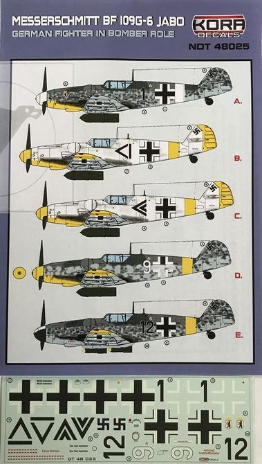 Messerschmitt Bf 109G-6 JABO German fighter in bomber role - Click Image to Close