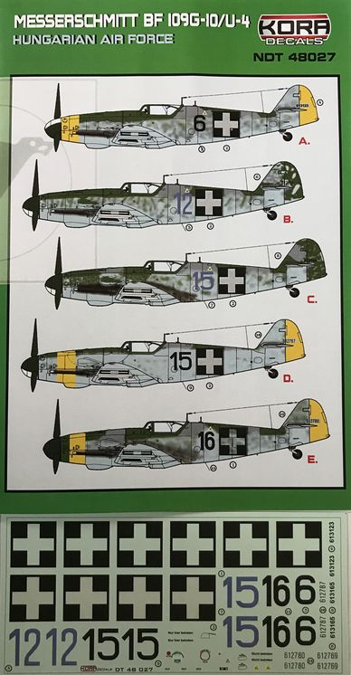 Messerschmitt Bf 109G-10/U4 Hungarian Air Force - Click Image to Close