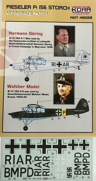 Fieseler Fi 156 Storch VIP service part I. (G�ring, Model) - Click Image to Close