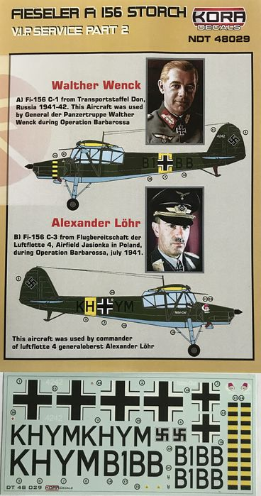 Fieseler Fi 156 Storch VIP service part II. (Wenck, L�hr)