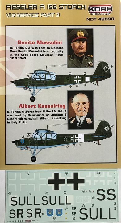 Fieseler Fi 156 Storch VIP part III. (Mussolini, Kesselring) - Click Image to Close