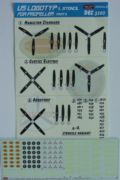 US Logotyp and stencils for propellers Part II.