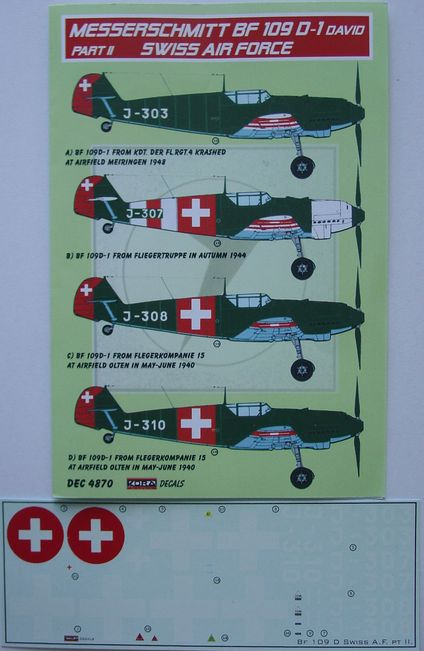 BF 109D-1 Swiss Air Force part II.