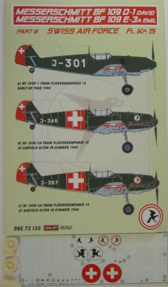 Bf 109D-1 Swiss part III.