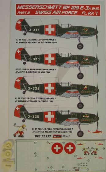 Bf 109E-3 Swiss AF part III.