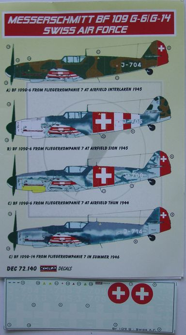 BF 109F-G-6/G-14 Swiss Air Force