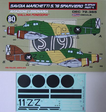 Decals SM.79 Sparviero in Spain Vol.4