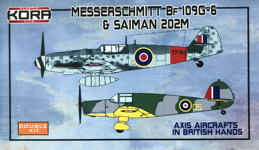 Messerschmitt Bf-109G-6 & Saiman 202M in British hands