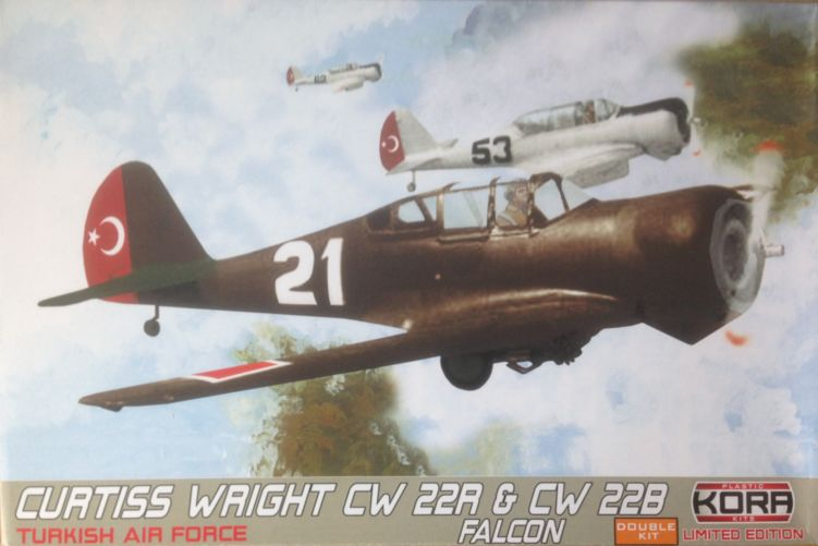 Curtiss-Wright CW-22R & CW-22B Falcon Turkish -Double kit