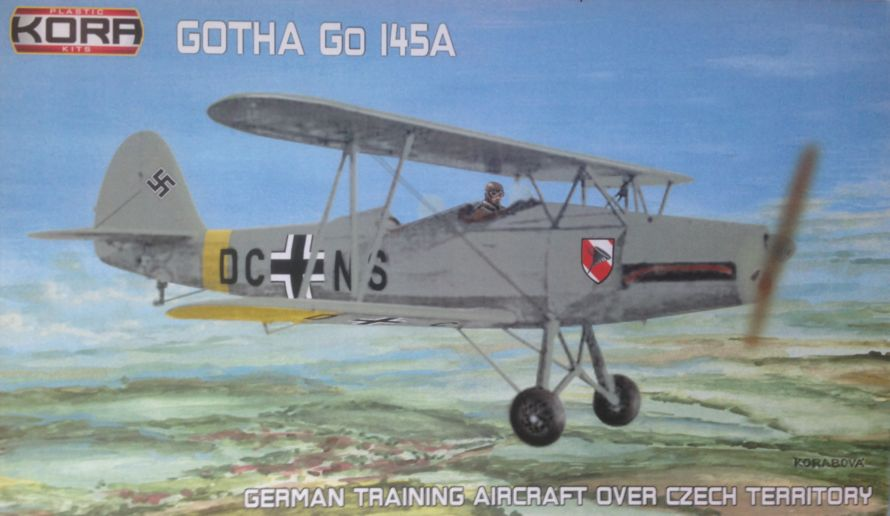 Gotha Go-145A German Trainer over Czech territory