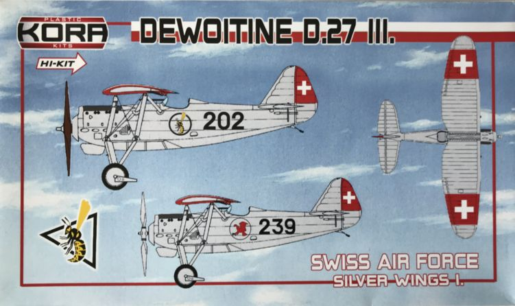 Dewoitine D.27 part III.Swiss AF, Silver wings I.