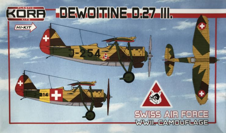 Dewoitine D.27.III Swiss AF, WWII camouflage
