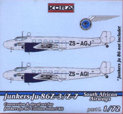 Junkers Ju 86Z-3/Z-7 S.African Airlines part I.