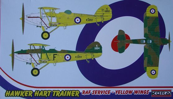Hawker Hart Trainer RAF service-yellow wings