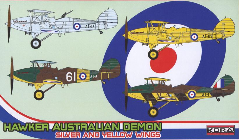 Hawker Australian Demon Silver and Yellow Service