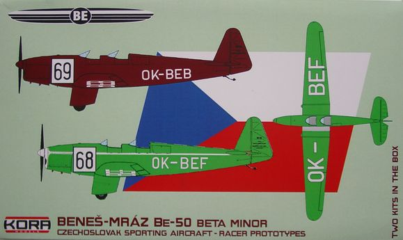 Benes-Mraz Be.50 Beta Minor Racer prototypes - 2 kits