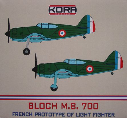 Bloch MB.700C.1 - Prototype of French light fighter