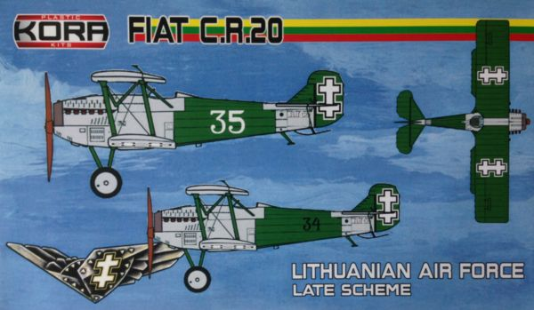 FIAT C.R. 20 Lithuanian service late - Click Image to Close