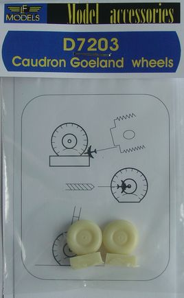 Caudron Goeland weighted wheels