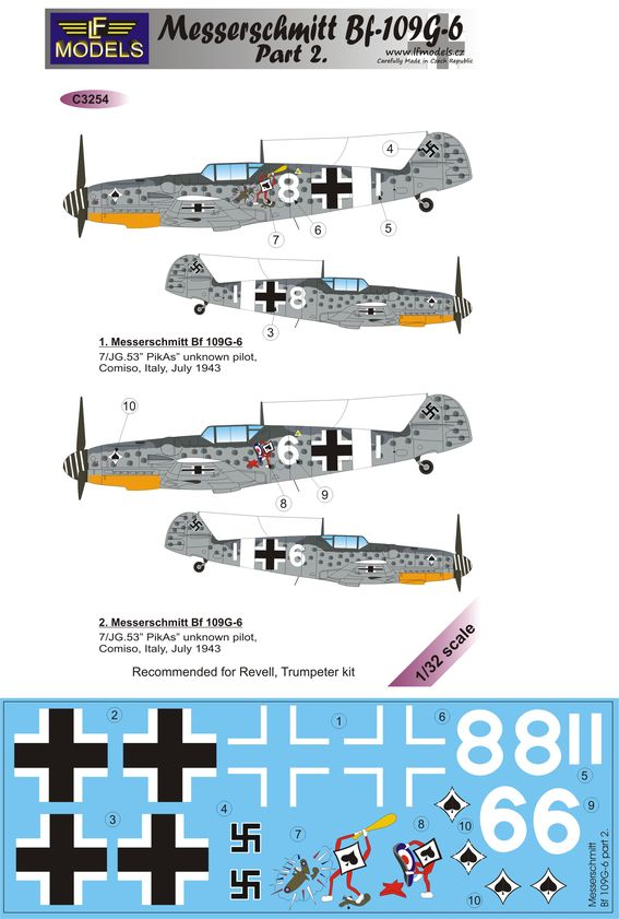 Messerschmitt Bf 109G-6 Comiso cartoon part 2.