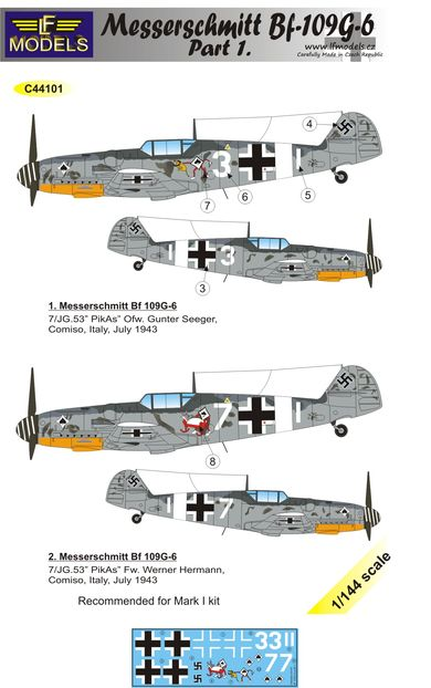 Messerschmitt Bf 109G-6 Comiso cartoon part 1.