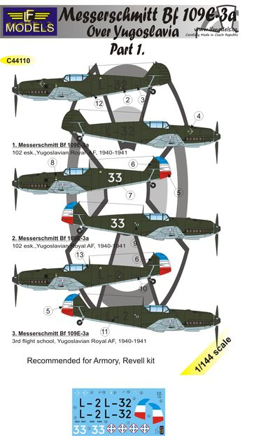 Messerschmitt Bf 109E-3a over Yugoslavia part 1