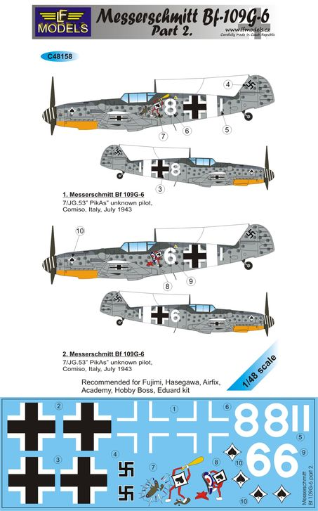 Messerschmitt Bf 109G-6 Comiso cartoon part 2. - Click Image to Close