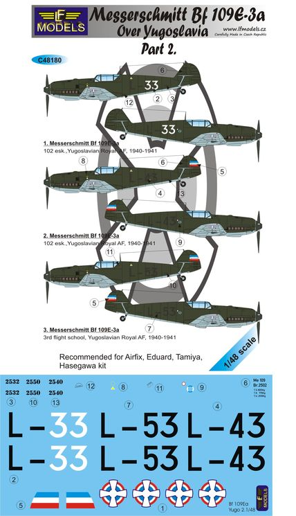 Messerschmitt Bf 109E-3a over Yugoslavia part 2