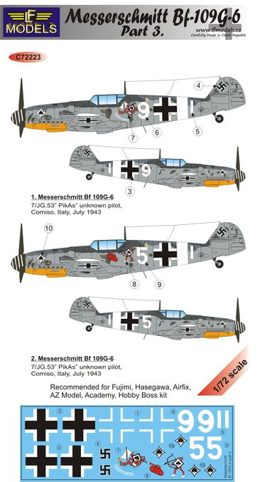 Messerschmitt Bf 109G-6 Comiso cartoon part 3.