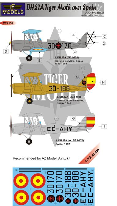 DH.82A Tiger Moth Over Spain