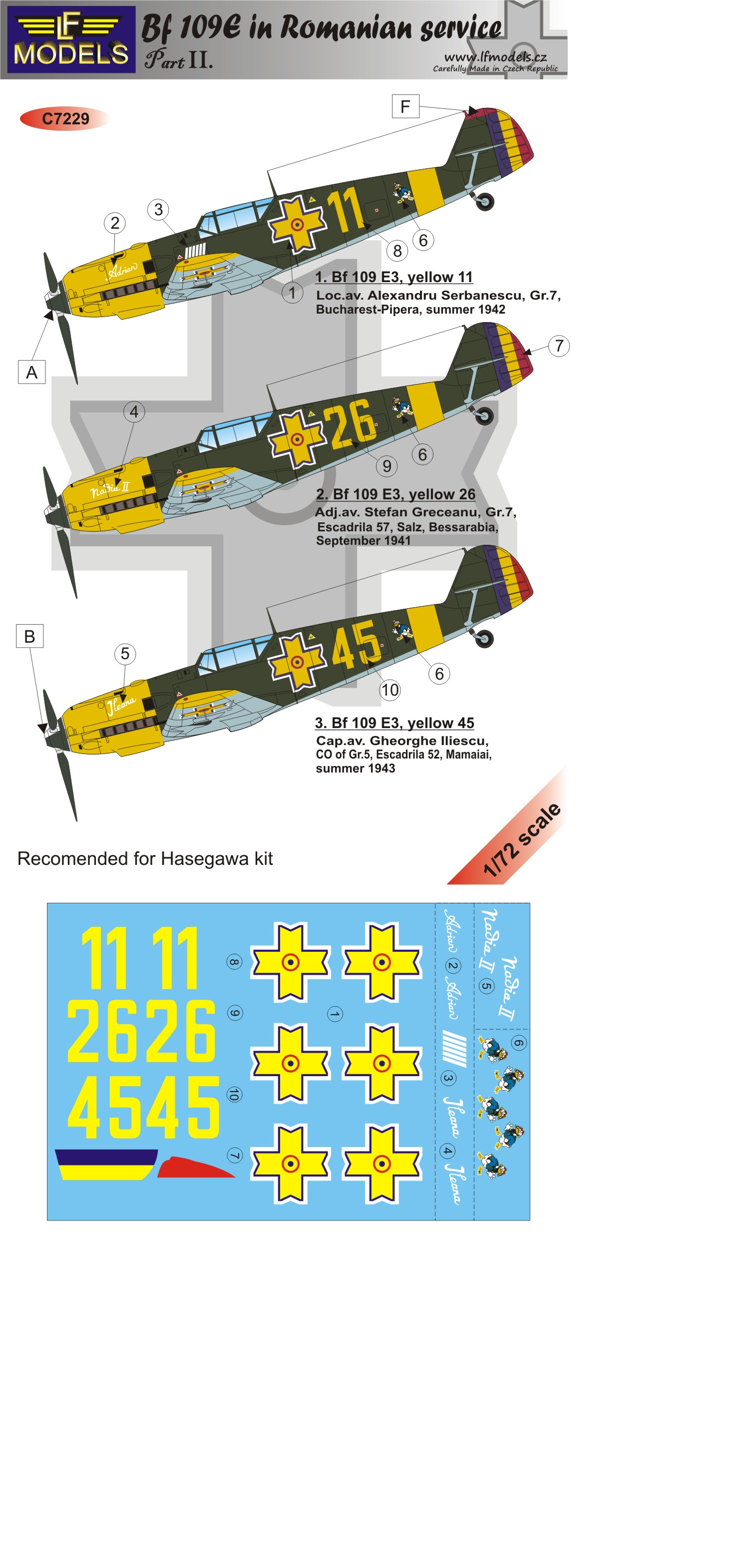 Bf 109E-3/E-7 Romania part II.