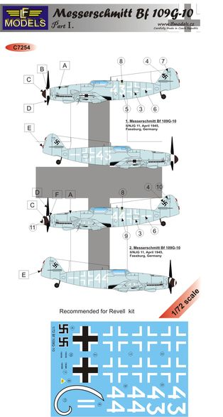 Bf 109G-10 Luftwaffe part I.