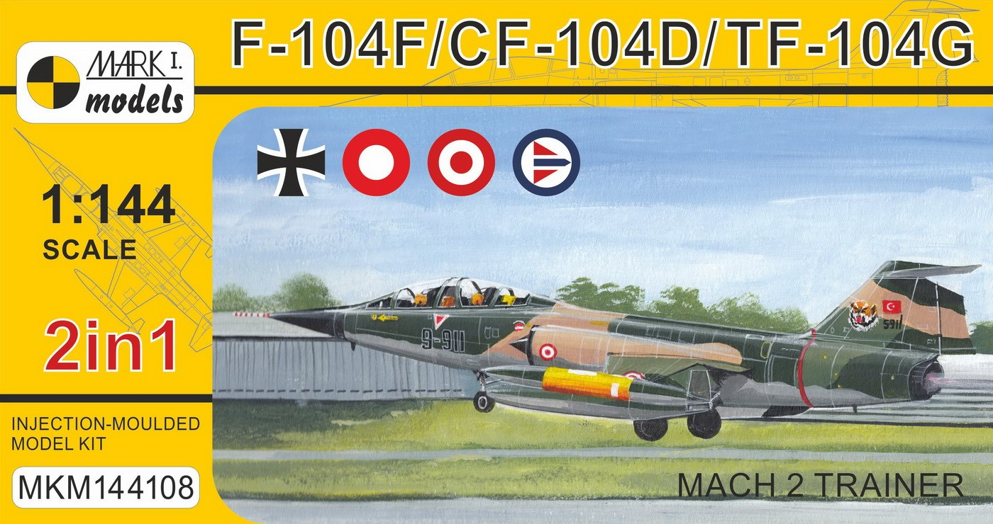 F-104F/CF-104D/TF-104G 'Mach 2 Trainer' (2in1)