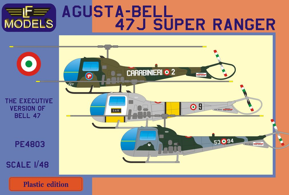 Agusta-Bell 47J Super Ranger (Carabinieri, It. SAR, Italian AF) - Click Image to Close