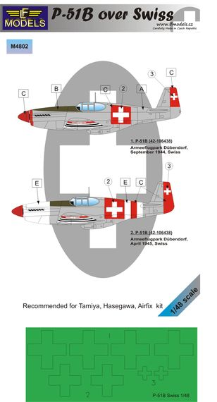 N.A. P-51B Mustang over Swiss