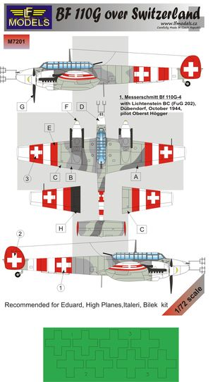 Messerschmitt Bf-110G over Swiss