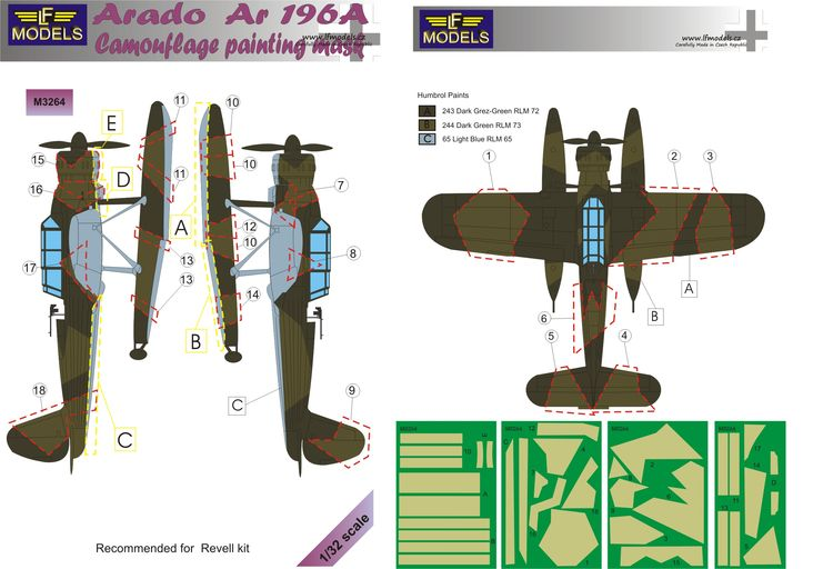 Arado Ar 196A Camouflage Painting Mask