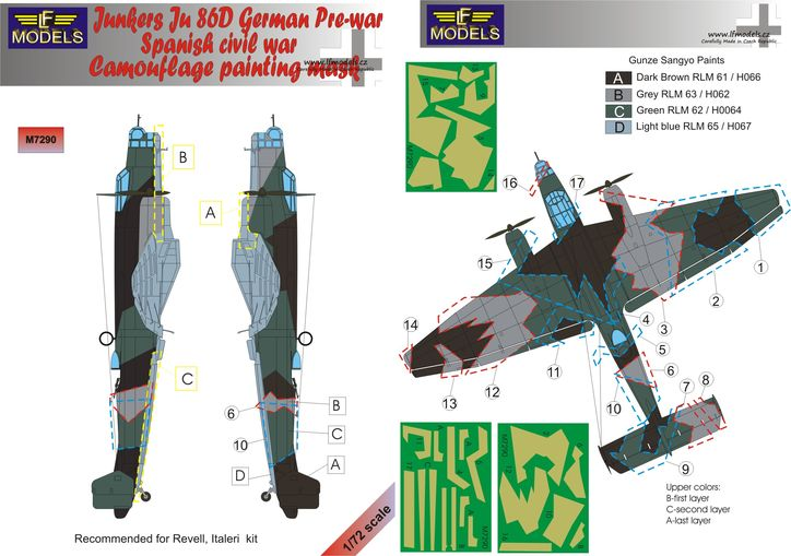 Junkers Ju 86D German Prewar/Spanish Civil War Camouflage Paint