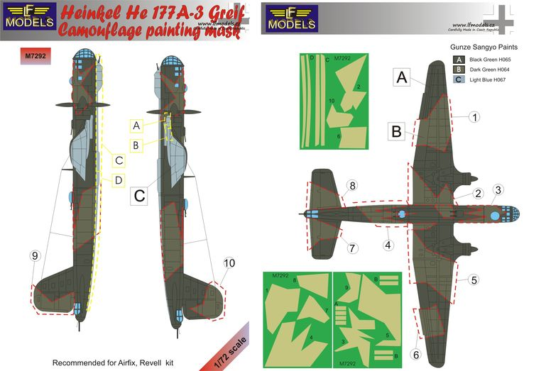 Heinkel He 177A-3 Greif Camouflage Painting Mask