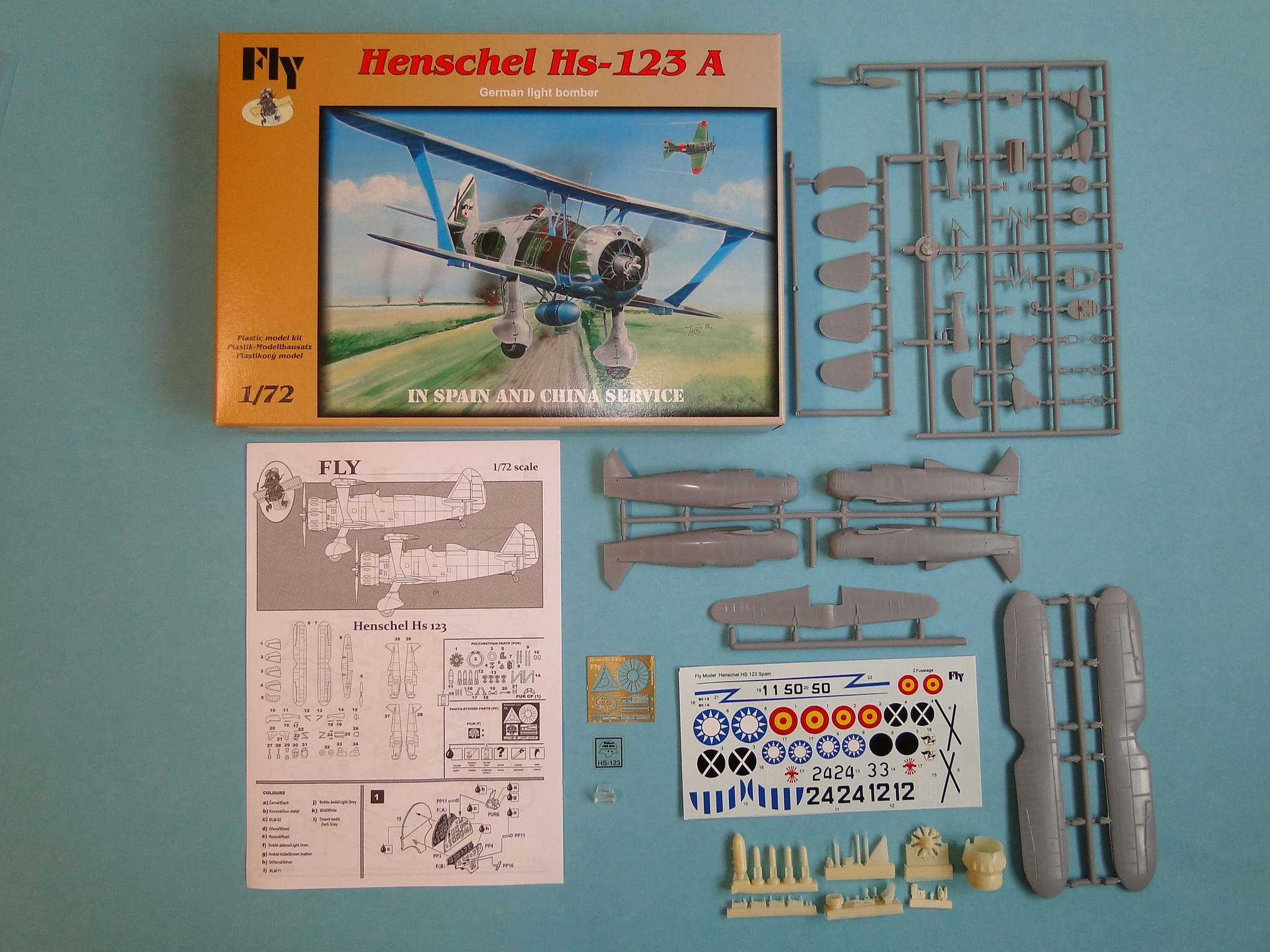 Henschel Hs 123A (in Spain and China service)