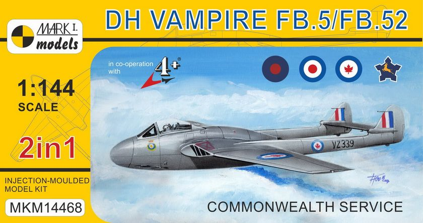 DH Vampire FB.5 Commonwelth 2 in 1