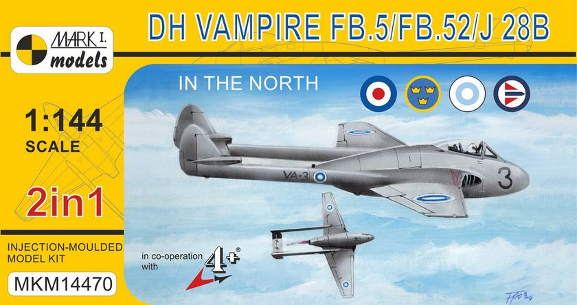 DH Vampire FB.5J / J 28B North service 2 in 1